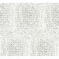 Architects Paper Vliestapete Alpha Tapete mit grafischen Kreisen metallic weiß 333732 10,05 m x 0,53 m