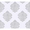 Architects Paper Vliestapete Alpha Tapete mit Ornamenten barock grau metallic weiß 324802 10,05 m x 0,53 m
