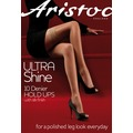 Aristoc Ultra 10D Ultra Shine Hold Ups Black ML