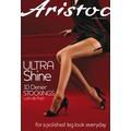 Aristoc Ultra 10D Ultra Shine Stockings Vaguely Black ML