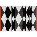 Arte Espina Teppich Broadway 500 Schwarz / Weiß / Rot 120 x 170 cm