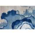 Arte Espina Teppich Damast 100 Blau 120 x 180 cm