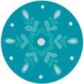 Arte Espina Teppich Joy 4186 Eisblau Ø 100 RUND