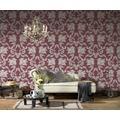 AS Création barocke Mustertapete Belle Epoque Strukturprofiltapete beige metallic rot