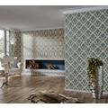 AS Création barocke Mustertapete Château 5 Vliestapete beige blau metallic 10,05 m x 0,53 m