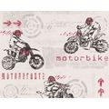 "AS Création Boys & Girls 4 Mustertapete ""Motorbike"", Papiertapete, grau, rot, weiss 10,05 m x 0,53 m"