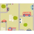 "AS Création Boys & Girls 4 Mustertapete ""Traffic"", Papiertapete, bunt, grün 10,05 m x 0,53 m"