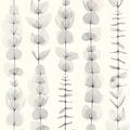 AS Création florale Mustertapete in Röntgen Optik X-Ray Vliestapete grau metallic weiß 342462 10,05 m x 0,53 m