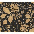 AS Création florale Mustertapete Memory 3 Vliestapete metallic schwarz 329863 10,05 m x 0,53 m