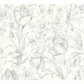 AS Création florale Mustertapete Memory 3 Vliestapete metallic weiß 329853