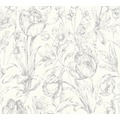 AS Création florale Mustertapete Memory 3 Vliestapete metallic weiß 329853 10,05 m x 0,53 m