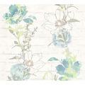 AS Création florale Mustertapete Urban Flowers Papiertapete blau grün weiß 328001 10,05 m x 0,53 m