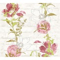 AS Création florale Mustertapete Urban Flowers Papiertapete creme grün rot 328004 10,05 m x 0,53 m