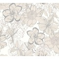 AS Création florale Mustertapete Urban Flowers Papiertapete creme metallic weiß 327981 10,05 m x 0,53 m
