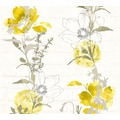 AS Création florale Mustertapete Urban Flowers Papiertapete gelb grün weiß 328002 10,05 m x 0,53 m