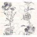 AS Création florale Mustertapete Urban Flowers Papiertapete grau schwarz weiß 328003 10,05 m x 0,53 m