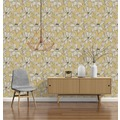 AS Création florale Mustertapete Urban Flowers Tapete creme gelb schwarz 327951 10,05 m x 0,53 m