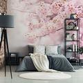 AS Création Fototapete Kirchblüte 130 g Vlies rosa weiß 3,36 m x 2,60 m