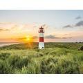 AS Création Fototapete Leuchtturm Sylt 130 g Vlies grün hellblau gelb 403702 3,36 m x 2,60 m