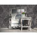 AS Création neobarocke Mustertapete Memory 3 Vliestapete grau metallic schwarz 10,05 m x 0,53 m