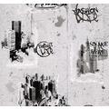 AS Création Mustertapete Dekora Natur, Papiertapete, signalweiß, schwarz, quarzgrau 10,05 m x 0,53 m