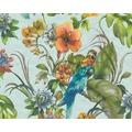 AS Création florale Mustertapete Simply Decor Tapete blau bunt 300152