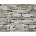 AS Création Mustertapete in Steinoptik Authentic Walls Tapete beige grau schwarz 943118 10,05 m x 0,53 m
