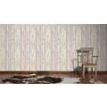 AS Création Mustertapete in Vintage-Holzoptik Dekora Natur, Tapete, hellrosa, pastelltürkis, pastellviolett, perlweiß, grünbraun 10,05 m x 0,53 m