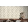 AS Création Mustertapete in Vintage-Holzoptik Dekora Natur, Tapete, perlweiß, staubgrau, grünbraun 10,05 m x 0,53 m