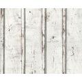 AS Création Mustertapete in Vintage-Holzoptik Dekora Natur, Tapete, signalweiß 953701