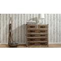 AS Création Mustertapete in Vintage-Holzoptik Dekora Natur, Tapete, signalweiß, quarzgrau, kupferbraun 10,05 m x 0,53 m