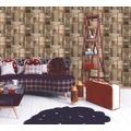AS Création Mustertapete in Vintage Holzoptik Authentic Walls Papiertapete beige braun 10,05 m x 0,53 m