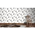 AS Création Mustertapete Kitchen Dreams Vliestapete grau schwarz weiß 10,05 m x 0,53 m