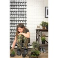 AS Création Mustertapete Scandinavian Style creme metallic schwarz 10,05 m x 0,53 m