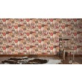 AS Création Mustertapete Simply Decor Papiertapete beige braun rot 334801 10,05 m x 0,53 m