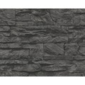 AS Création Mustertapete Wood`n Stone, Tapete, Natursteinoptik, grau, schwarz 707123 10,05 m x 0,53 m