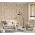 AS Création neo barocke Mustertapete Kingston Strukturprofiltapete beige braun metallic 10,05 m x 0,53 m