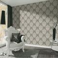 AS Création neobarocke Mustertapete Hermitage 10 grau metallic weiß 10,05 m x 0,53 m