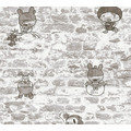 AS Création Papiertapete Boys & Girls 6 Tapete in Vintage Backstein Optik grau 369872 10,05 m x 0,53 m