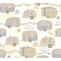 AS Création Papiertapete Boys & Girls 6 Tapete Love Camping blau creme metallic 10,05 m x 0,53 m