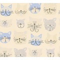 AS Création Papiertapete Boys & Girls 6 Tapete mit Katzen blau creme grau 10,05 m x 0,53 m
