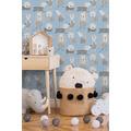 AS Création Papiertapete Boys & Girls 6 Tapete mit niedlichen Hunden blau weiß 367551 10,05 m x 0,53 m