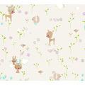 AS Création Papiertapete Boys & Girls 6 Tapete mit niedlichen Wald Tieren beige braun grün 10,05 m x 0,53 m