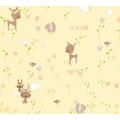 AS Création Papiertapete Boys & Girls 6 Tapete mit niedlichen Wald Tieren braun gelb 369882 10,05 m x 0,53 m