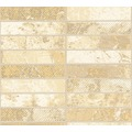 AS Création Strukturprofiltapete Il Decoro Tapete in Klinker Optik beige creme metallic 348181 10,05 m x 0,53 m