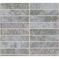 AS Création Strukturprofiltapete Il Decoro Tapete in Klinker Optik grau metallic 348183 10,05 m x 0,53 m