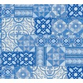 AS Création Tapete Il Decoro  in mediterraner Fliesen Optik blau metallic 343003 10,05 m x 0,53 m