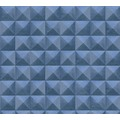 AS Création Vliestapete Authentic Walls 2 Tapete in 3D Optik geometrisch blau 362753 10,05 m x 0,53 m