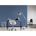AS Création Vliestapete Authentic Walls 2 Tapete in 3D Optik geometrisch blau 10,05 m x 0,53 m