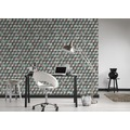AS Création Vliestapete Authentic Walls 2 Tapete in 3D Optik geometrisch blau grau grün 366621 10,05 m x 0,53 m